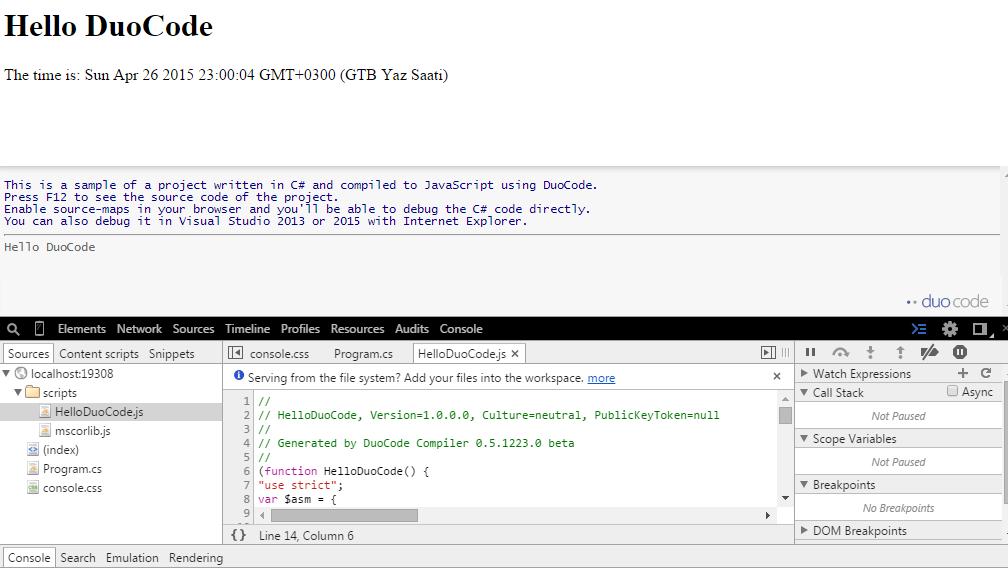 duocode html kodları