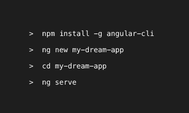 Angular CLI (Command Line Interface)