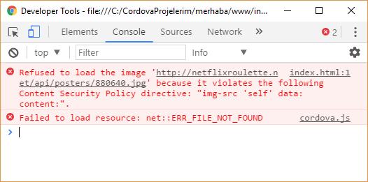 CSP image uyarısı