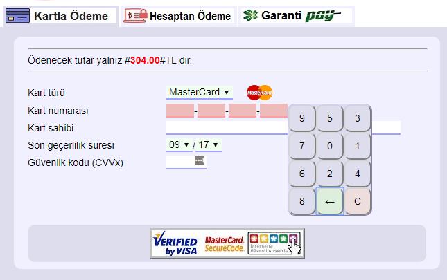 İnternet vergi dairesi ödeme ekranı