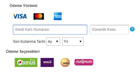 apple.com'daki ödeme ekranı