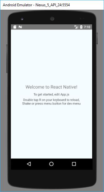 Örnek React Native uygulaması