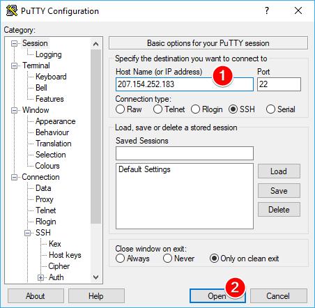 24 - PuTTY üzerinden SSH bağlantısının kurulması