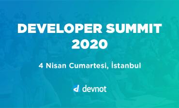 Developer Summit 2020 4 Nisan'da