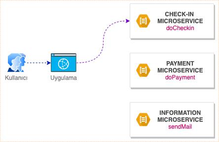 Mikroservisler: Check-in,PaymentveInformation
