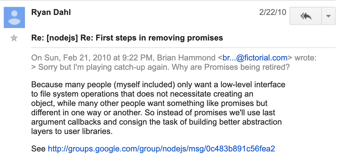First steps in removing promises - Google Groups 2020-05-14 01-44-31