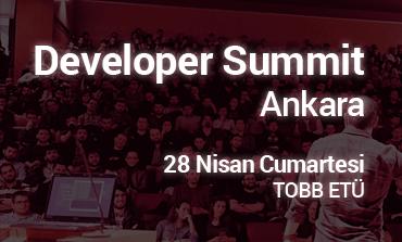 Developer Summit Ankara 28 Nisan'da