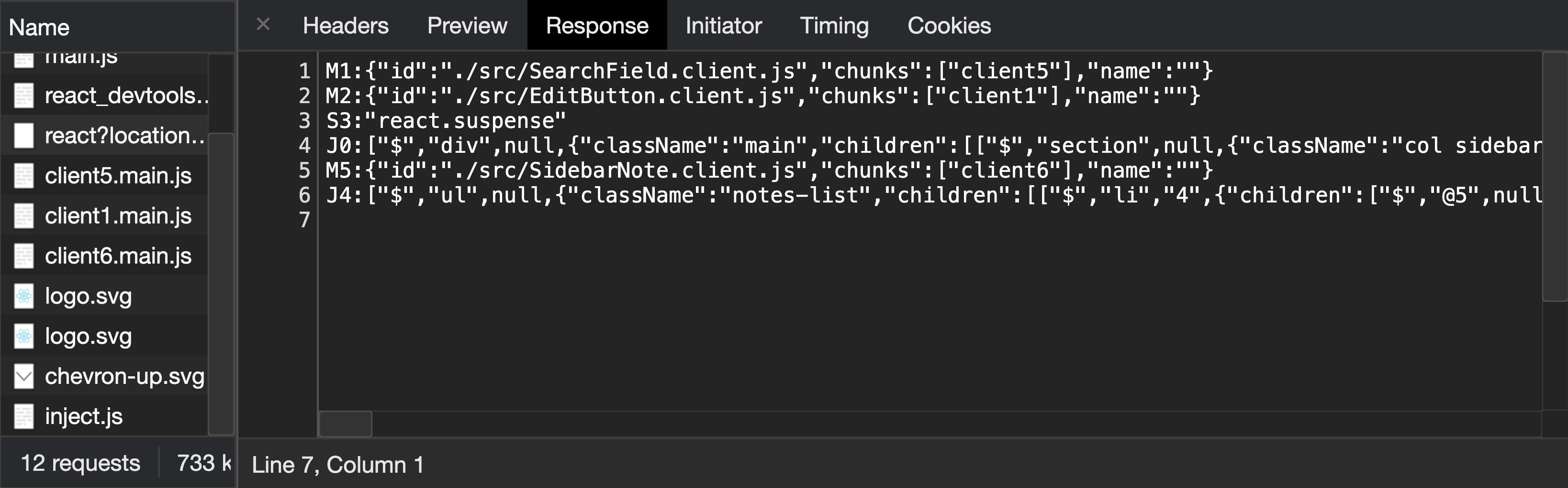 Sürekli bir şekilde sunucudan render edilip aktarılan bileşenler JSON'a benzer şekilde özel bir veri formatıyla iletilir